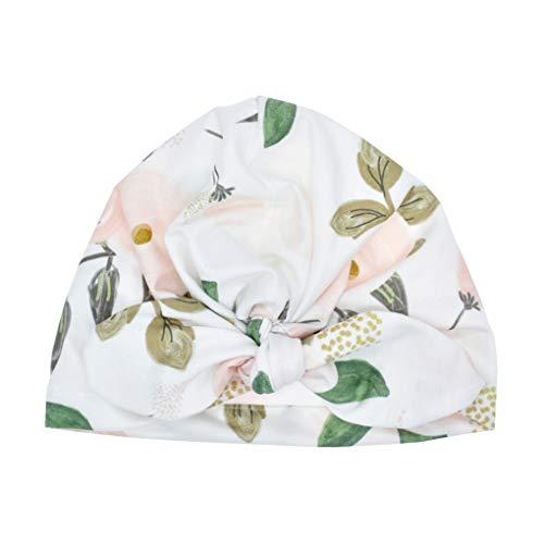 Neugeborenes Turban Baby Floral Headwrap Bowknot Cap Toddler bequeme Blumen Warm Strickmütze