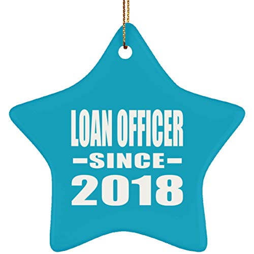 Loan Officer Since 2018 - Star Ornament, Xmas Christmas Tree Decor-ation, Best Funny Gag Gift Idea for Birthday Bday Christmas Xmas Anniversary