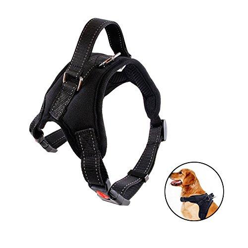Bello Luna Arnés para perro Ajustable Refletive Chaleco de perro con manija y silla acolchada Style-Black / M