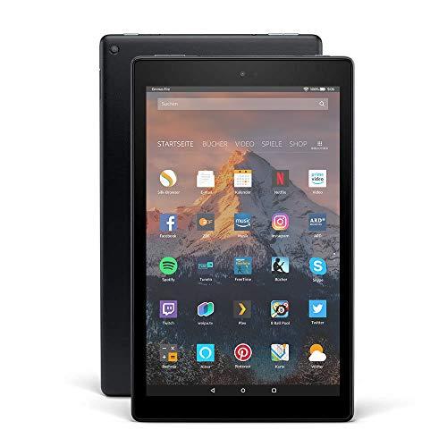 Fire HD 10-Tablet, 1080p Full HD-Display, 32 GB, Schwarz, mit Spezialangeboten (vorherige Generation...