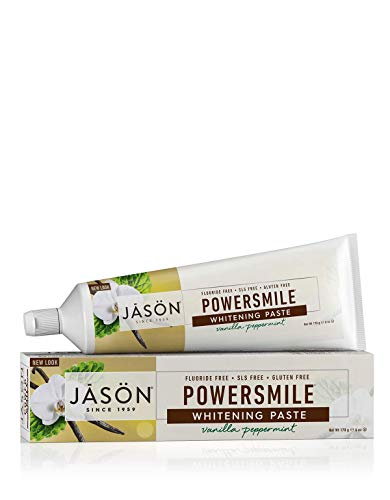 Jason Natural Products Power Smile Toothpaste Vanilla Mint, 6 Ounce by Cutting Edge International,...