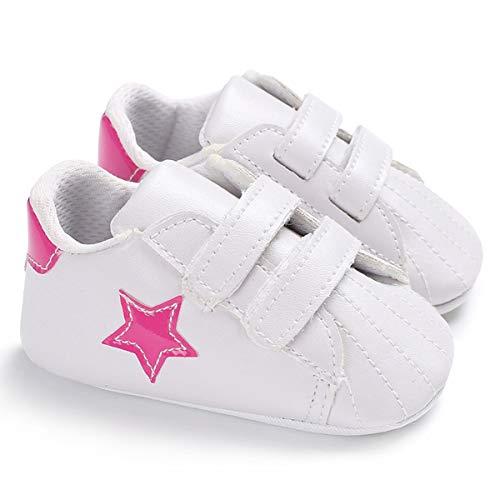 Scarpe da culla per bambini Sneakers da bambino Prewalker per neonati a forma di stella premium per neonati appena nati (Color : Pink, Size : 6-12 Months)