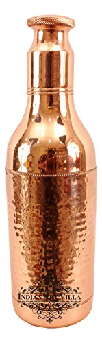 Indian Art Villa Hammered Copper Cocktail Wine Shaker, Mixing & Serving Drinks, 1500 ML