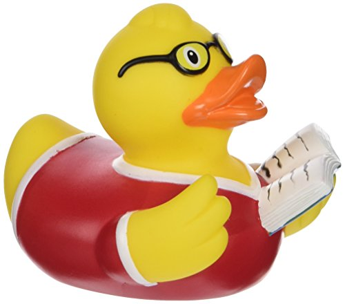 Lilalu 8 x 8 cm / 50 g Book Collector e Bagnetto Toy Rubber Duck