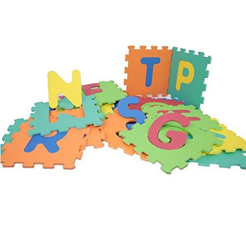 Mamatoy MMA93000 - Mamababy Tappeto Puzzle ABC, Tappetini 32 x 32 cm, Numeri e Simboli Staccabili,...