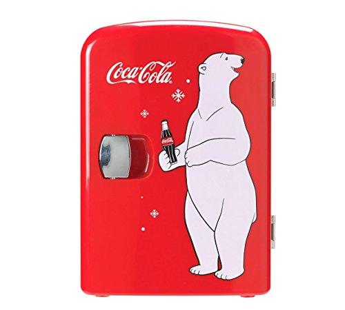 Coke mini frigo con orso