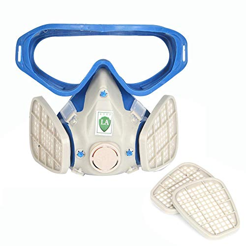 Yeldou Industrial Gas Chemical Anti-Dust Paint Respirator Mask Glasses Goggles Set