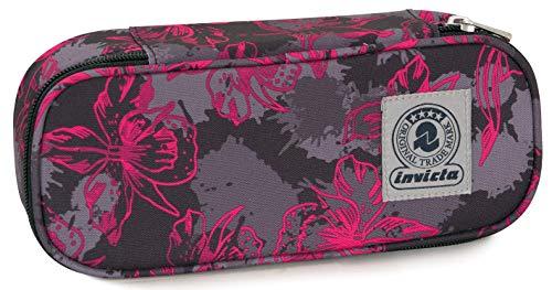 Bustina Round Plus Invicta Twist Eco-Material, Rosa, Scomparto attrezzato porta penne