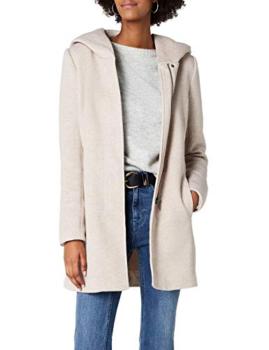 ONLY Damen onlSEDONA Light Coat OTW NOOS Mantel, Braun (Etherea Detail:Melange), 38 (Herstellergröße: M)