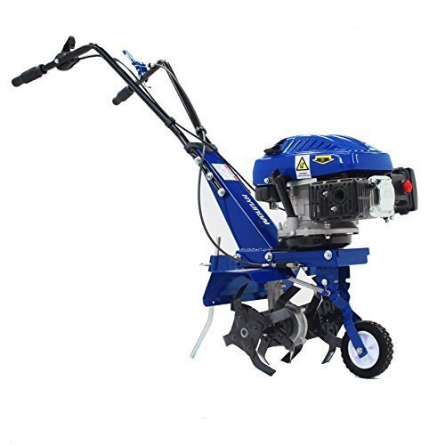 The Hyundai 4-stroke tiller, is very well made and is very robust machine. It offers the best value for money of any petrol tiller we have reviewed.  At 31kg its heavy, very bulky, so if you plan on loading it into and out of your car boot this may be easier said than done and anyone who does not have good upper strength may struggle.