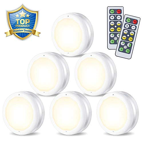 Luce Armadio LED, SOLMORE Luce Notturna 6 Packs Cabinet Lights Senza Sensore di Movimento a...
