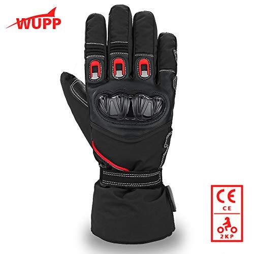 WUPP Guanti Moto Invernali, Guanti da Scooter Impermeabili in Thinsulate 3M Antivento, Protezione...