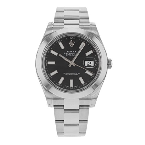 ROLEX DATEJUST II MEN'S STAINLESS STEEL CASE AUTOMATIC DATE UHR 116300BKSO