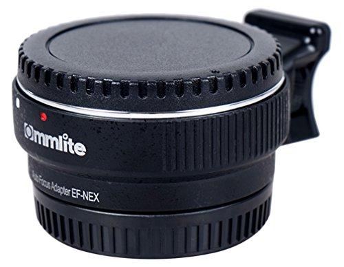 Commlite Auto Fokus EF-NEX EF-EMOUNT-Objektiv-Mount-Adapter für Canon EF EF-S Objektiv an Sony E NEX Mount 3/3N/5N/5R/7/A7 A7R Full-Frame, Farbe schwarz