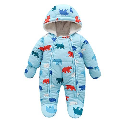 Pagliaccetto Bambino Invernale con Cappuccio Piumino Infantile Tutina Neonato Tute da Neve Outwear...