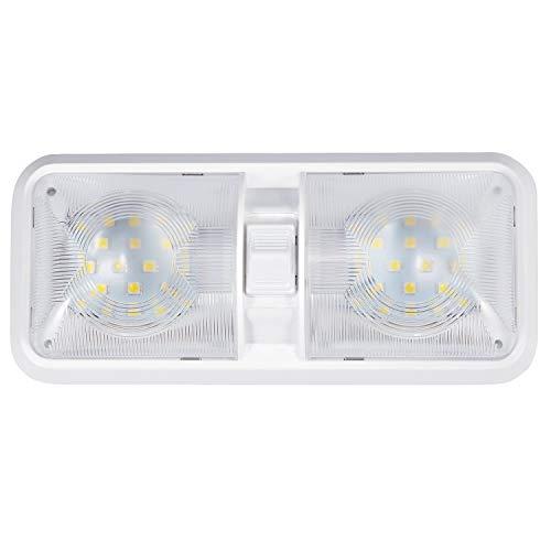 Kohree Lampada LED da 12V Plafoniera Tettuccio Illuminazione interna per auto / RV / Rimorchio / camper / barca Luce Bianco naturale 4000-4500K 48 x 5050 SMD