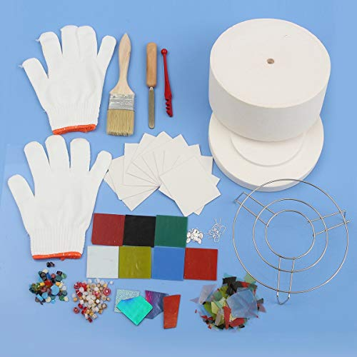 MASUNN 14Pcs Fibra Ceramica Macchiato Vetro Fusing Forniture Forno A Microonde Kit Diy Gioielli...