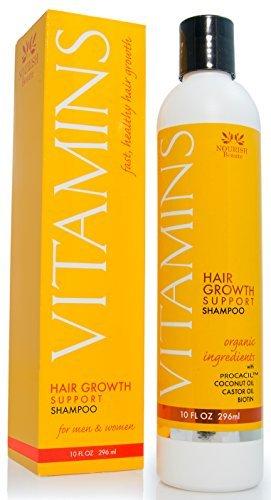 Vitamins Haarverlust Shampoo - 121% Haarwachstum and 47% weniger Haarverdünnung in Klinischen Studien - 296ml - mit DHT Blocker und Biotin für schnelleren Nachwuchs - Bestes Haarwiederherstellungs Produkt für Männer und Frauen - 2 Monats Vorrat