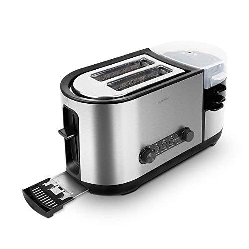 L&U Tostapane, tostapane 5 in 1 con Booster per Uova e creatore, tostapane 2 fette con Mini Padella,...