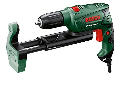 Bosch DIY Schlagbohrmaschine PSB 500 RA, Microfilter-Staubabsaugung, Tiefenanschlag,...