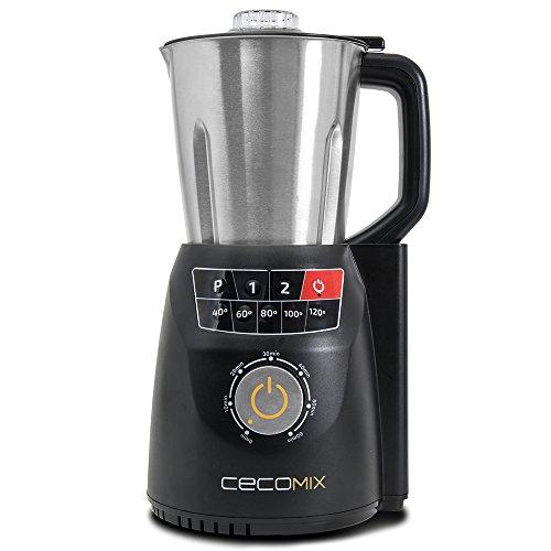 Robot de cocina multifunción que cocina y tritura. 2,8 litros de capacidad, Temperatura hasta 120ºC, 3 velocidades, y temporizador hasta 60 minutos. Diseño mejorado. Cecomix Compact Pro de Cecotec. (Cecomix Compact Pro)