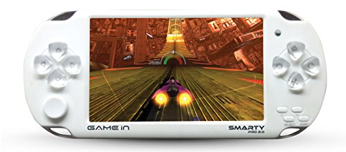 Mitashi Game In Smarty Pro 2.0 Handheld Gaming Console with 3000 In-built (White)