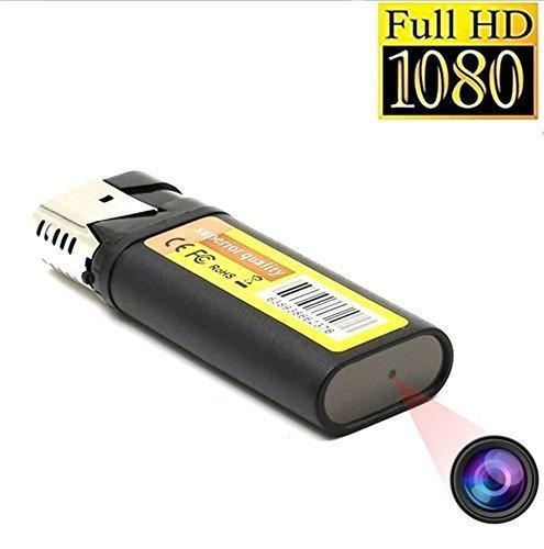TenSky 1920x1080P HD Mini Microcamera Spia Accendino Funzione dell'unità Flash USB con...