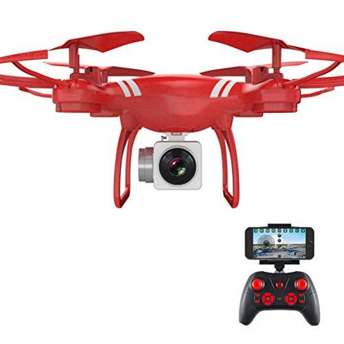 JEFFZH Drone con videocamera HD 1080P HD Live Video, Best Drone per Principianti, 3D Flip, Controllo vocale, Volo traiettoria, modalità Senza Testa, Operazione One Key, 2 batterie, Rosso