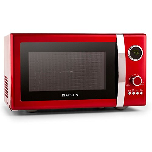 KLARSTEIN Forno a Microonde 2in1, 23 L, 800 W,  grill 1000 W, 12 programmi, rosso