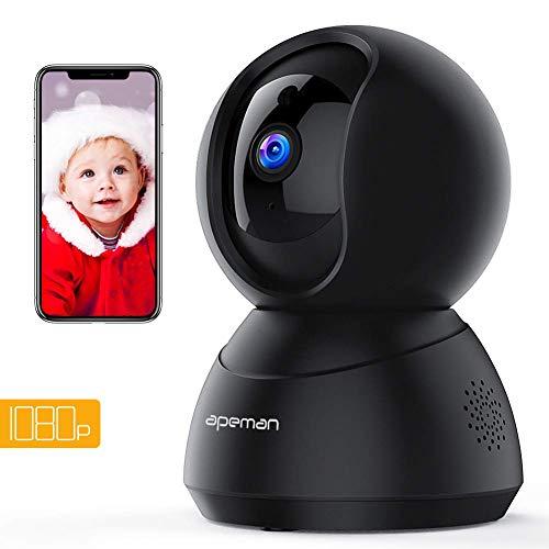 Apeman FHD 1080P Telecamera di Sorveglianza Wifi, Videocamera IP Interno,Visione Notturna a...