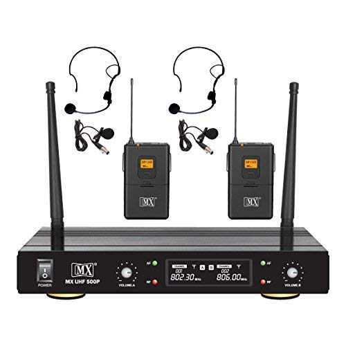 Maxcart MX High Compact Dual Channel UHF Wireless Microphone