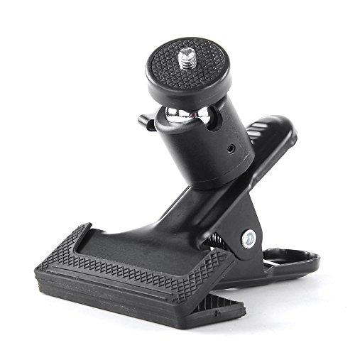 Multifunzione, con molla, clip per fotocamera, flash riflettore supporto clip per fotocamera, treppiede, fotografia morsetto clip supporto per studio fondale fotocamera SLR, DSLR, etc.