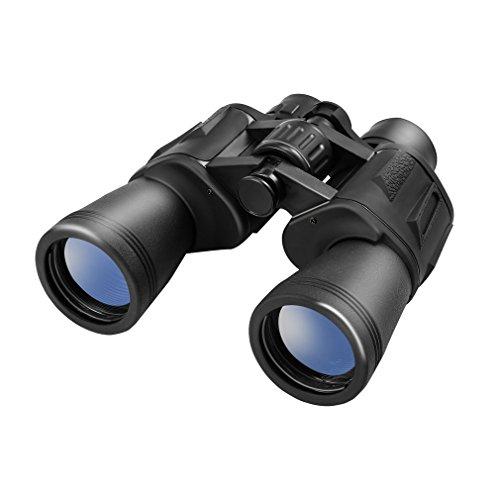 LESHP Prismáticos 10x50, Binoculars óptico Ideales para Observación de Aves/ Acampada/ Caza/ ópera/ Conciertos/ Deportes/ Turísticas/ Visita de Negocios etc.