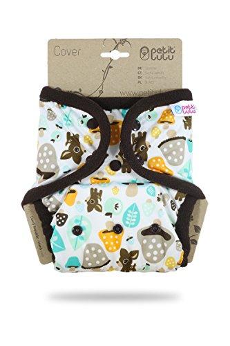 Cover Petit Lulu   Taglia unica   Bottoncini   Pannolini lavabili     Pannolino di stoffa   Prodotto in Europa (Mushrooms)