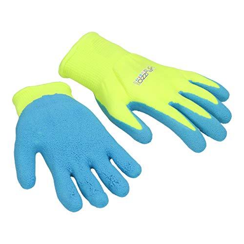 FUZZIO 2 Paia di guanti per bambini di protezione da giardino, casa e gioco (2 (2-3 anni), Verde)