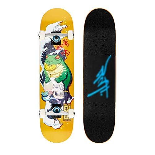Skateboard Standard Tavola Corta Professionale 7 Strati Maple Double Kick Tail 4 Ruote Adulti...