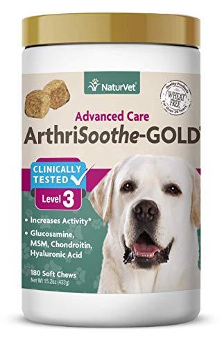 NaturVet clínicamente Probado arthrisoothe-Gold Nivel 3Avanzada Conjunta para el Cuidado Dental para Perros y Gatos, Suave, Fabricado en Estados Unidos