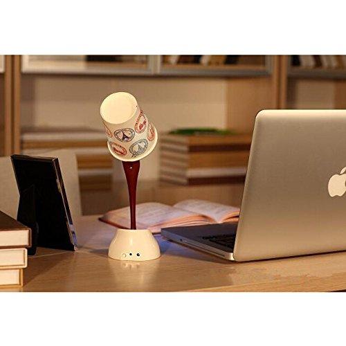 image lampe led avec 3 verres de lampe diy table de nuit