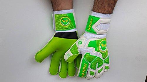 Walter Guanto Portiere Professionale, Made in Italy, Calcio, Modello Star 3D (Verde-Giallo, 8)