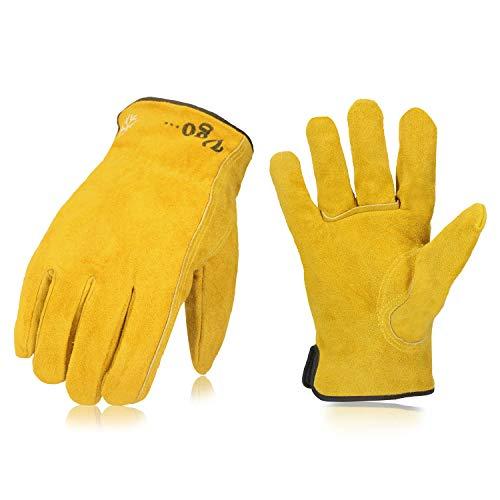 Vgo 3 paia, circa 0℃, l'interno di 3M Thinsulate C40, guanti da lavoro invernali in pelle bovina...