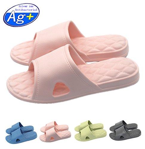 Happy Lily Pantofole antiscivolo per la doccia, il bagno o la piscina, con suola morbida in schiuma,...