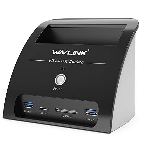 WAVLINK USB 3.0base di collegamento docking station A SATA per Hard Disk SSD da 2.5E 3.5con...