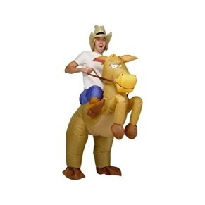 Durshani Inflatable Horse and Cowboy Fancy Costume Dress Suit (Disfraz) - Adult Size by
