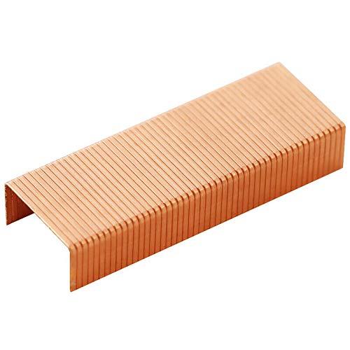 BE-TOOL - Punti metallici 24/6, 5000 pezzi, colore oro rosa, larghezza standard 12 mm