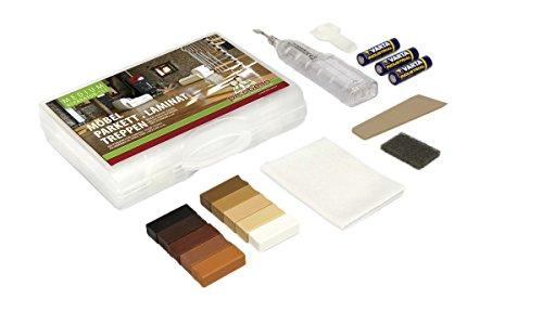 Picobello G61404 - Set per la riparazione di pavimentazioni in laminato, parquet, mobili e scale in...
