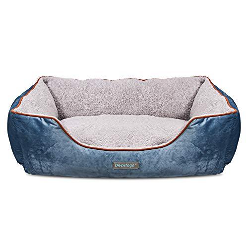 Docatgo Letto per Cani 80x60x25cm, Cuccia per Cane con Cuscino Reversibile, Lettini Comfort per Cani...