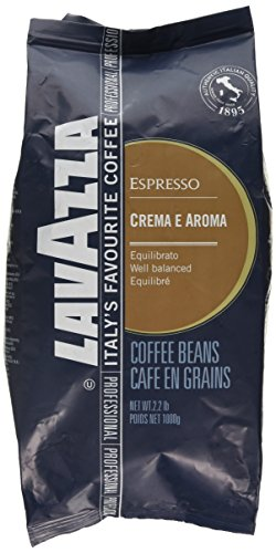 Lavazza Espresso coffee beans (a barrel-aged wine, chocolate notes, dried fruit, rounded and well-balanced flavour coffee with aromas of dried fruit and chocolate, dried fruit and citrus fruit, fresh fruit and petals)