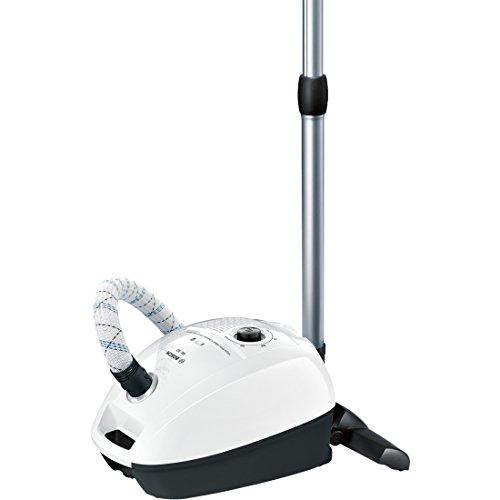 Bosch Bgl3A209 Aspirapolvere a Carrello con Sacco, 600 W, 3 Litri, 79 Decibel, Bianco/Nero