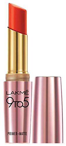 Lakme 9 to 5 Primer with Matte Lip Color, MR10 Red Rebel, 3.6g