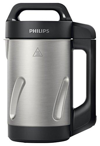 Philips HR2203/80Standmixer mit Heizfunktion, schwarz 1,2l, 1000W